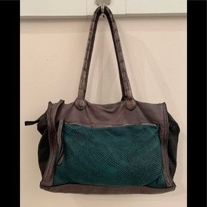 Caterina Lucchi purple/teal leather bag